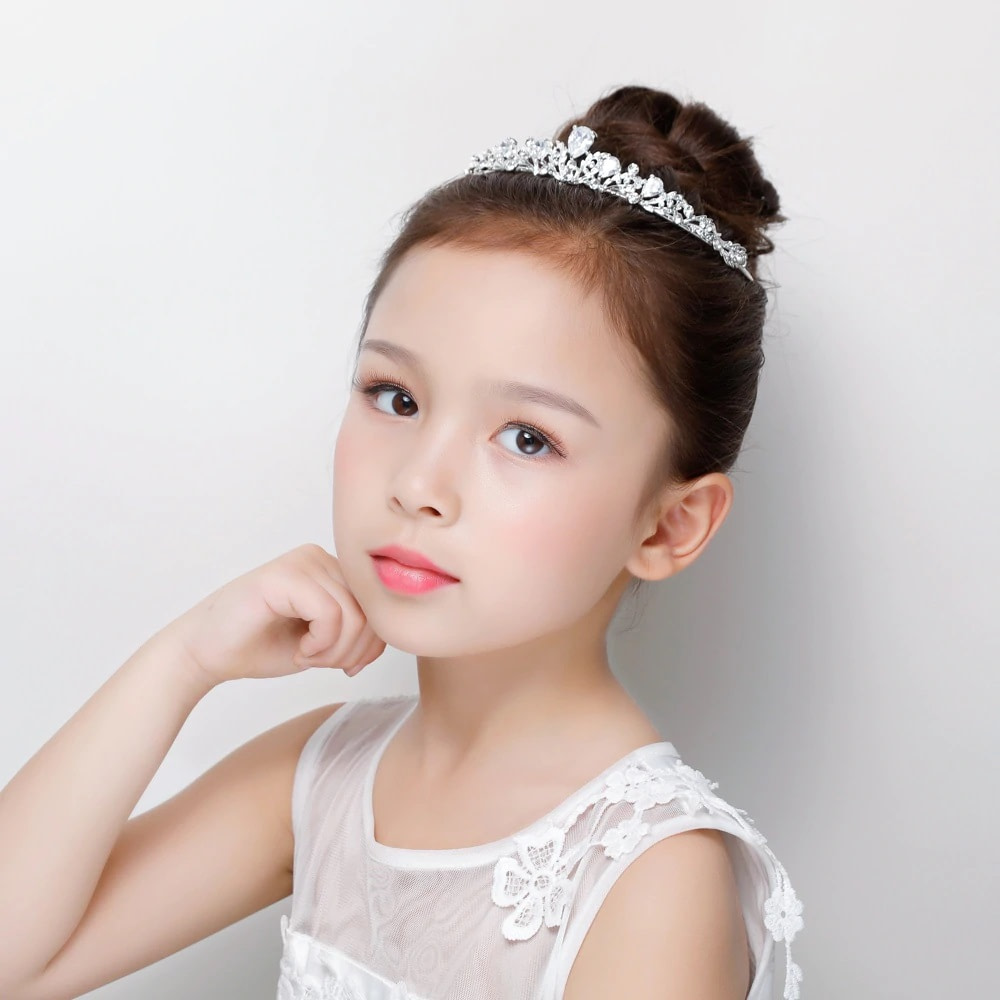 Flower Girl Headpiece with crystals