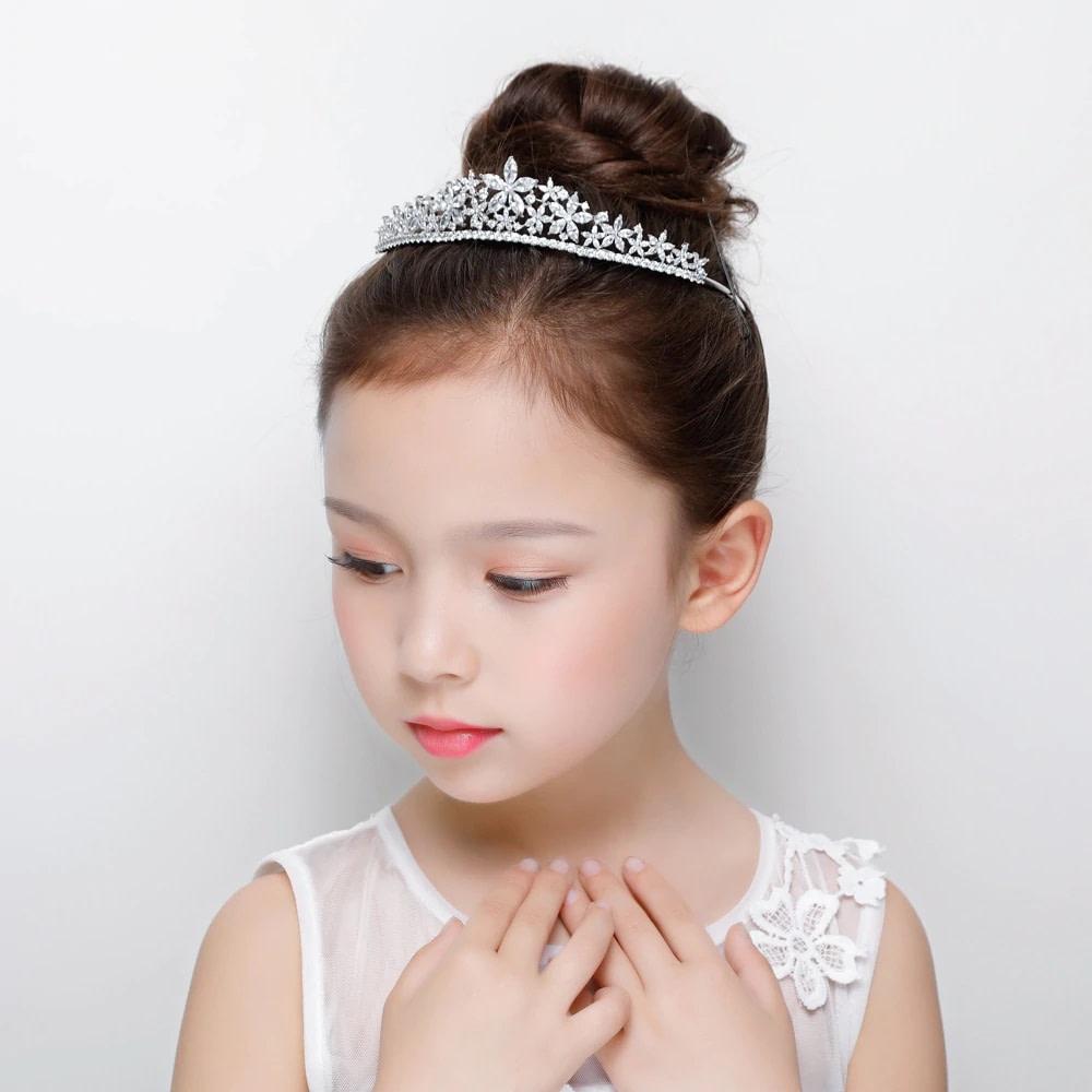 Flower Girl wearing a Tiara