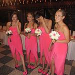 Meenas Bridesmaids wearing Bridal Flip Flops
