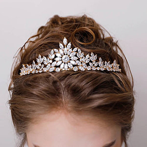 Gold Tiara with sparkling stones