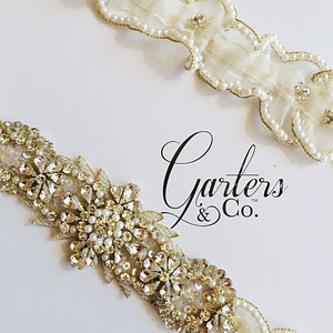 Gorgeous Rhinestone Wedding Garter