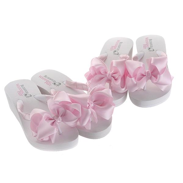 Pink Bridal Flip Flops