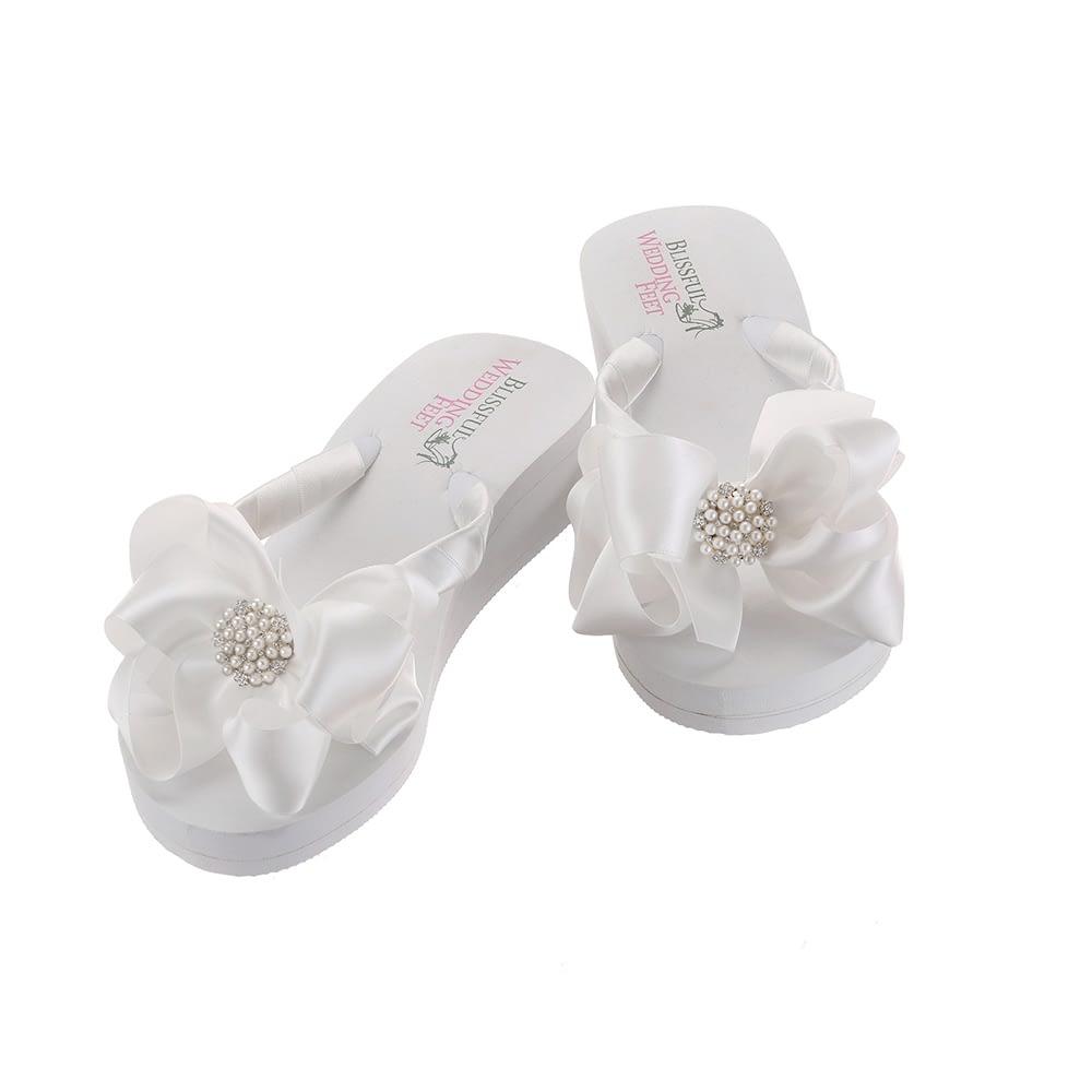 Bridal Flip Flops for Beach Weddings