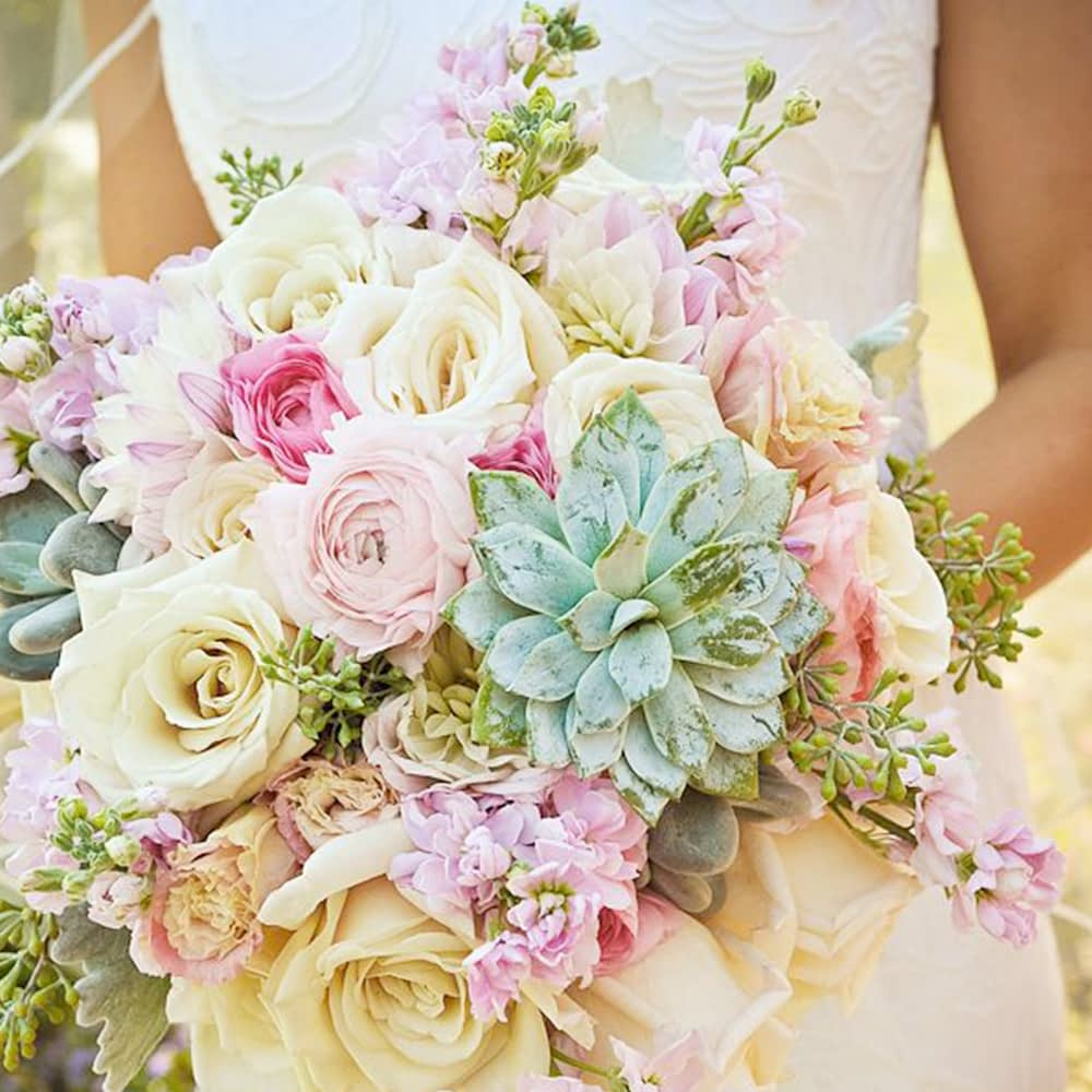 Spring Bride with beautiful flowers