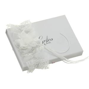 Ruffled Rose set on a lace Bridal garter