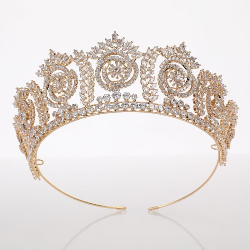 Baroque Tiara made from stunning CZ crystals for Bride