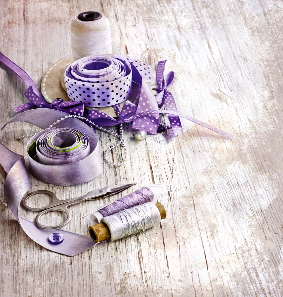 Ribbons and cotton ready to customise Wedding Garter