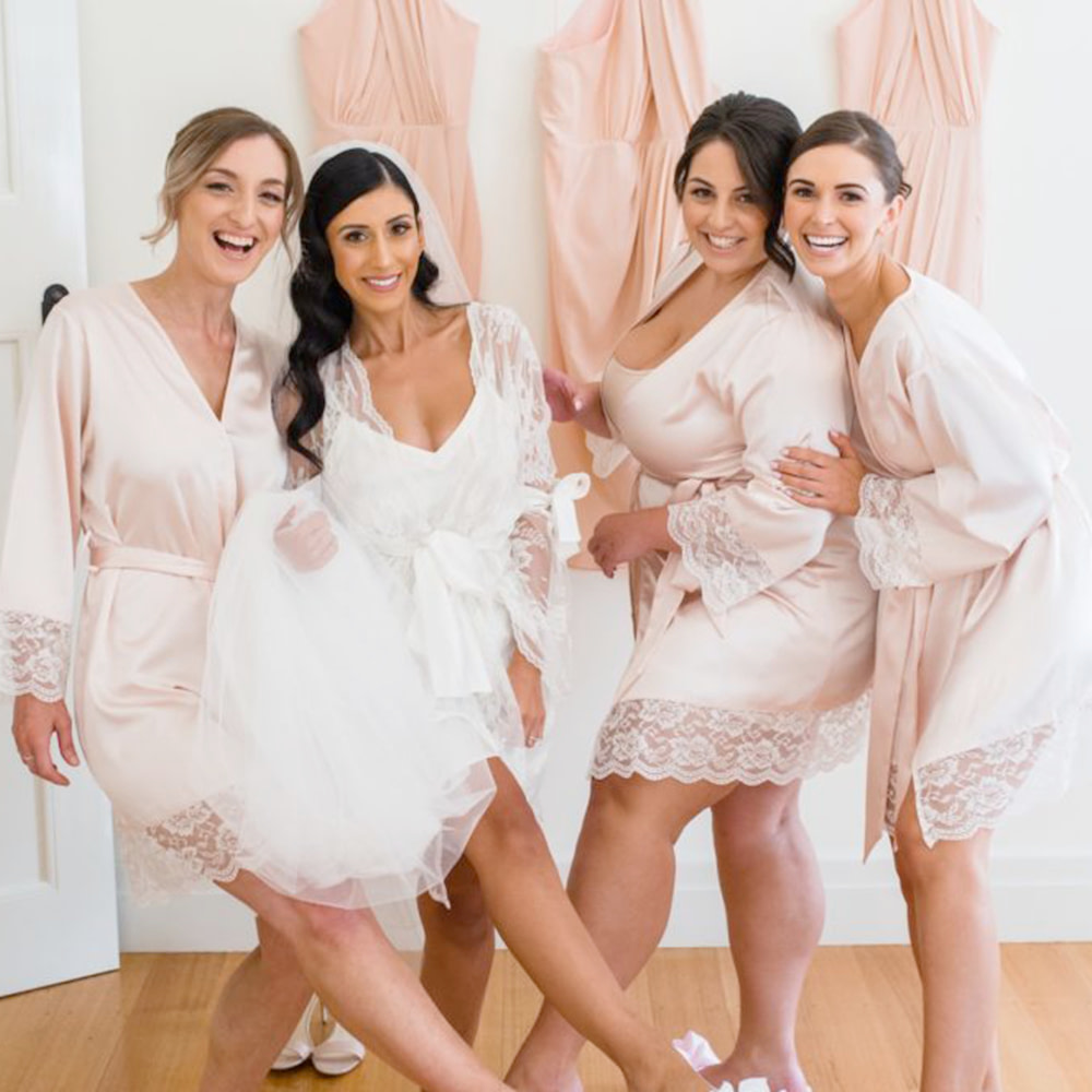 Bride and Bridesmaids wearing Flip Flops
