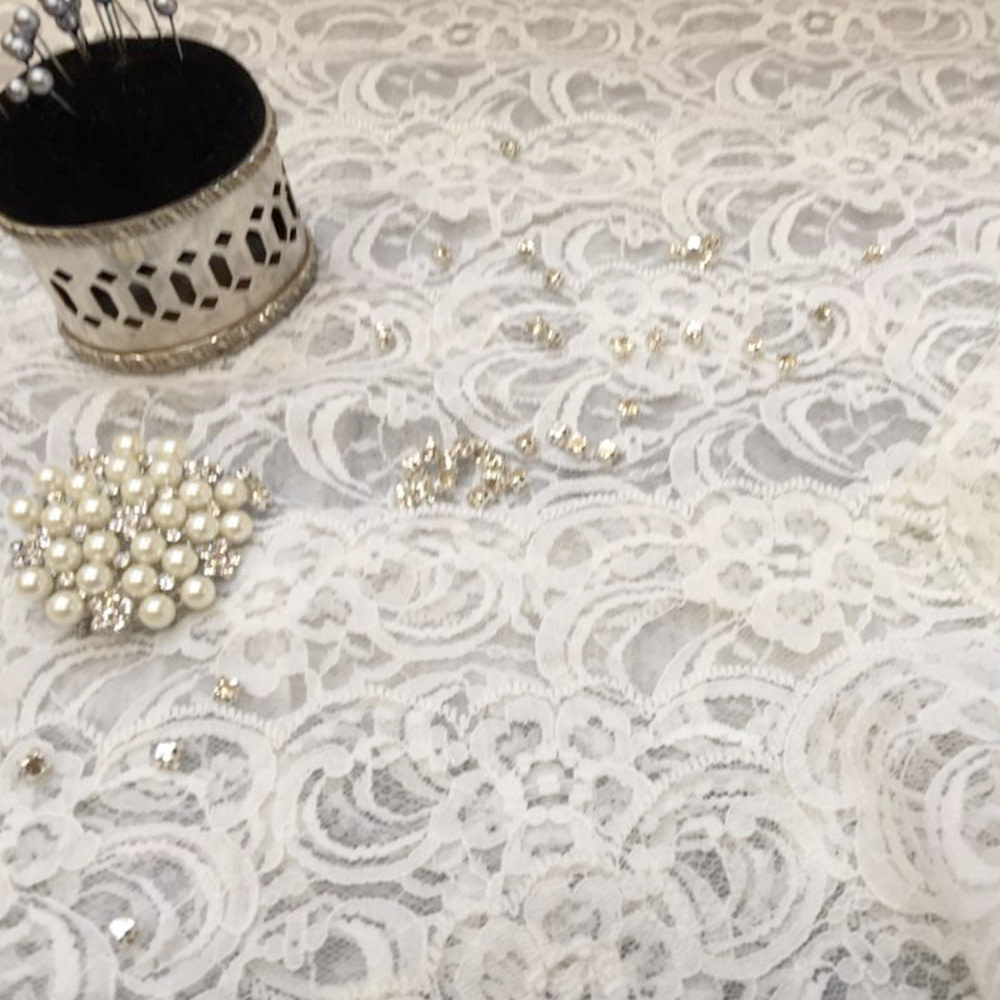 How we make our Laura Lace Wedding Garter