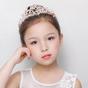 Pink Flower Girl Tiara