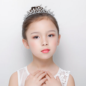 Flower Girl Tiara with Pearls and Crystals