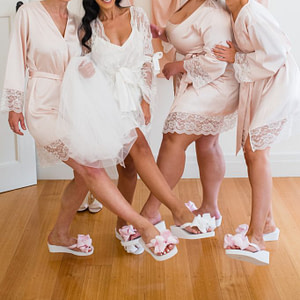 Bridal Flip Flops for Bridesmaids
