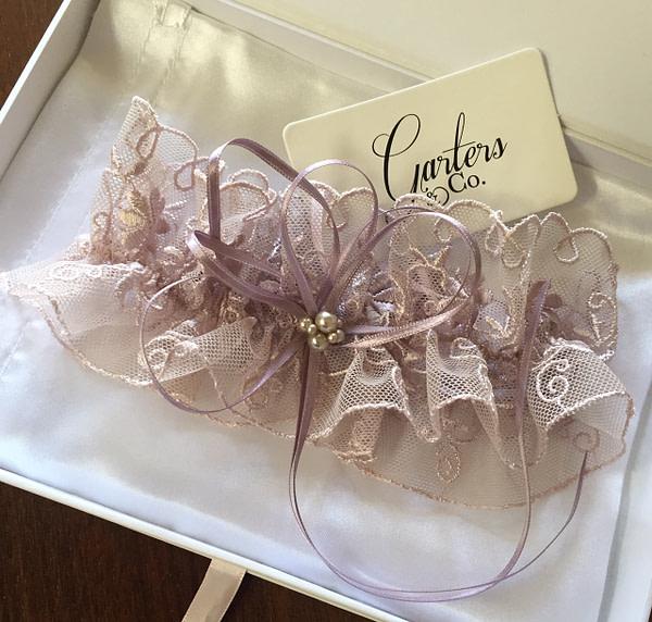 Soft Tulle Pink Bridal Garter