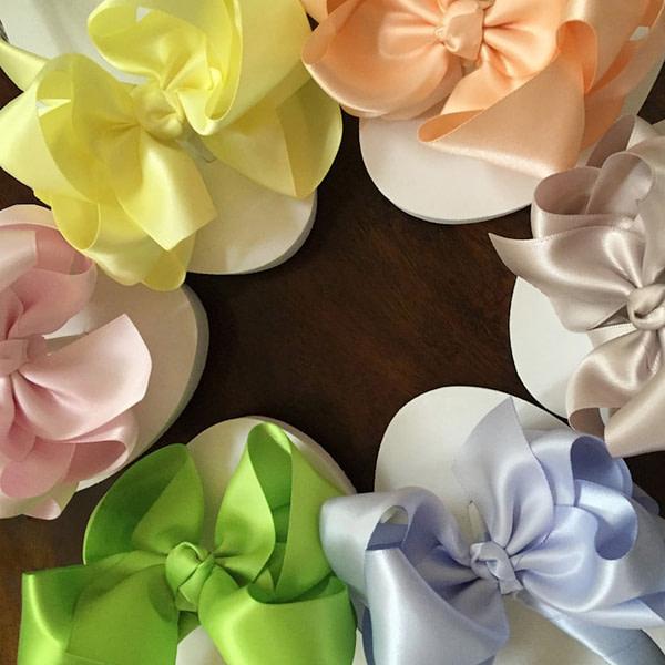 Colours of Bridesmaids Flip Flops