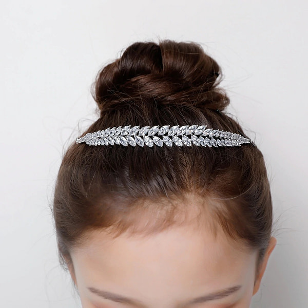 Crystal Flower Girl Headpiece