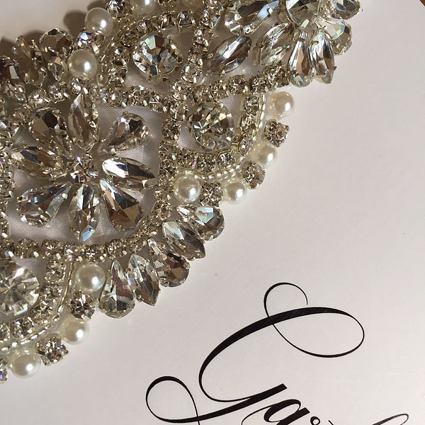 Stunning Rhinestone and Pearls on Bridal Garter