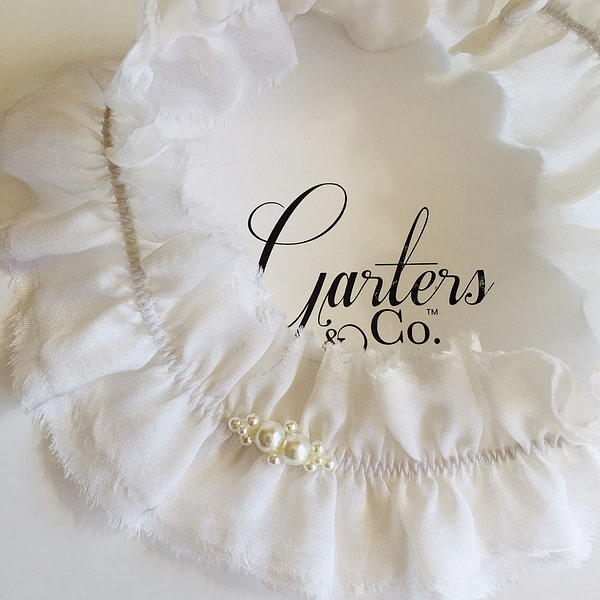 Silk Garter with Pearls