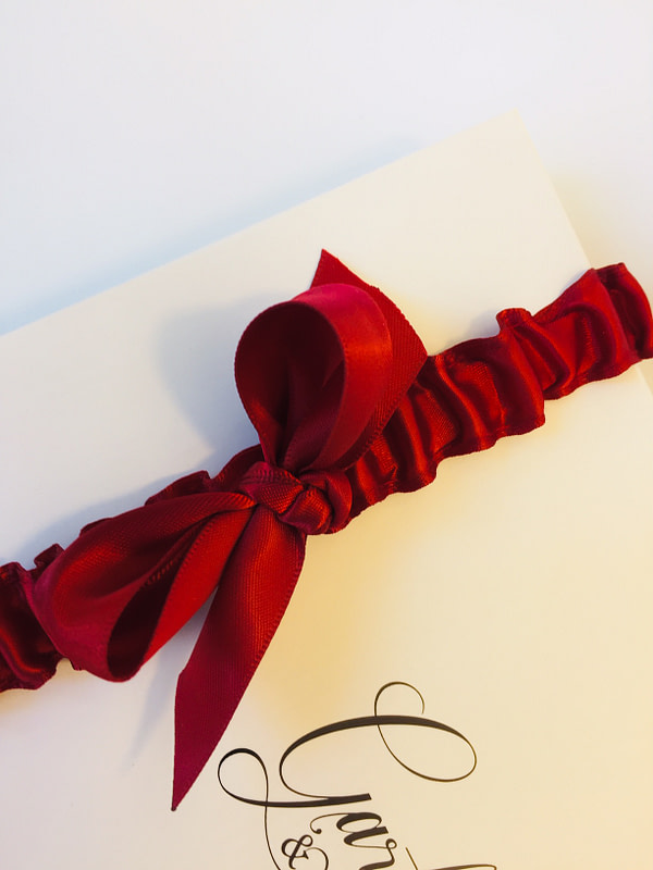 Tied Bow on Red Garter